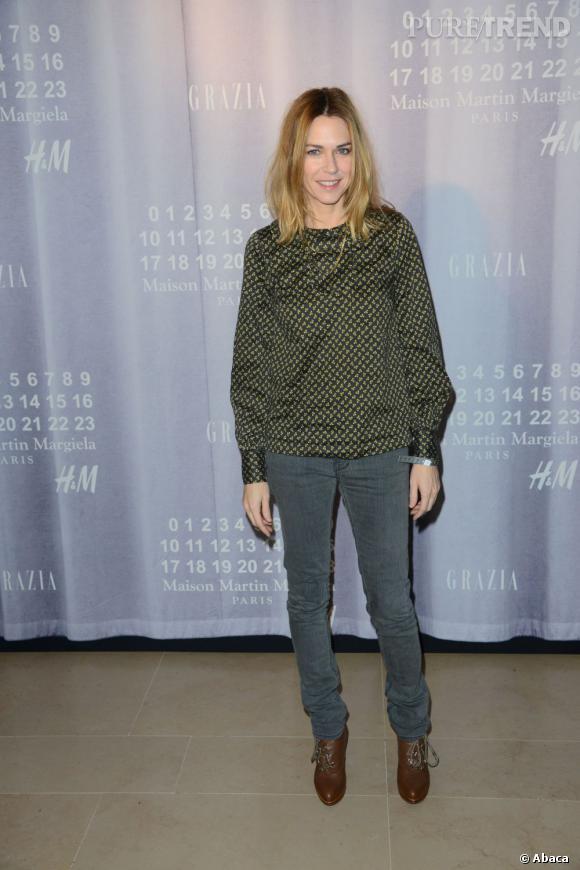 Marie-Josée Croze était elle aussi venue découvrir la collection MMM pour H&M.