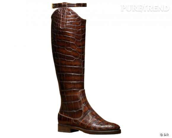 50 bottes, boots et bottines pour cet hiver !       Bottes en croco Givenchy, prix sur demande