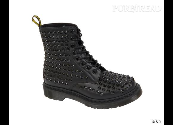 50 bottes, boots et bottines pour cet hiver !       Dr Martens Spike, environ 350 €