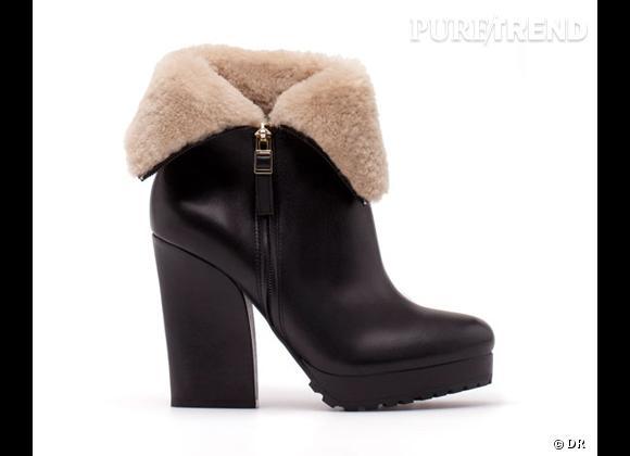 50 bottes, boots et bottines pour cet hiver !       Bottes fourrées Uterqüe, 219 € sur  www.uterque.com
