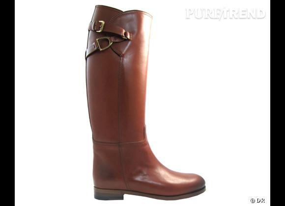 50 bottes, boots et bottines pour cet hiver !       Bottes cavalière Ralph Lauren Collection, 995 €