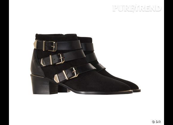 50 bottes, boots et bottines pour cet hiver !       Boots sanglées The Kooples, 285 €