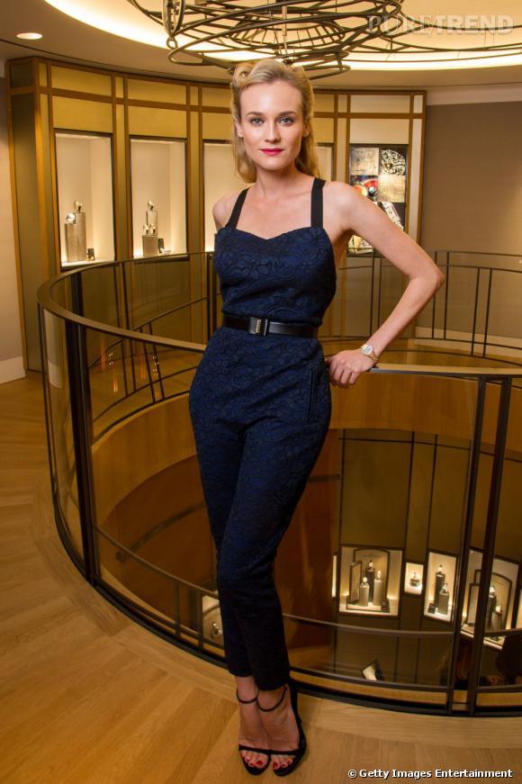 Diane Kruger, égérie de la maison de Haute Hrlogerie inaugure la boutiqueJaeger-LeCoultre place Vendôme.