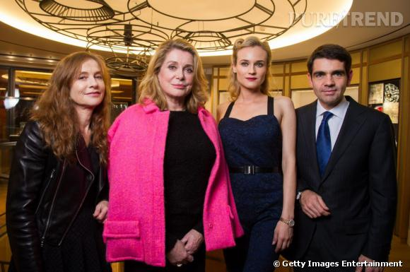 Isabelle Huppert  et  Catherine Deneuve  étaient également de la soirée.