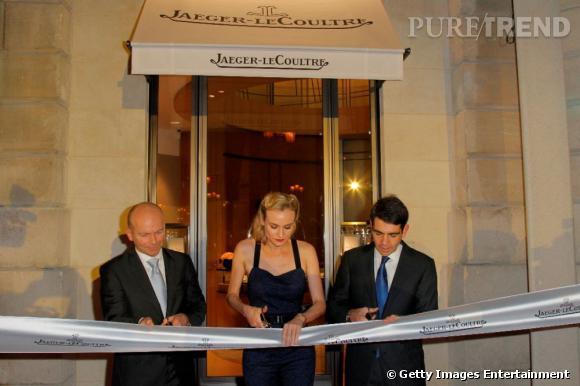 Guillain Maspetiol  Directeur Général de  Jaeger-LeCoultre ,  Diane Kruger  et  Jérôme Lambert  Président de Jaeger-LeCoultre.