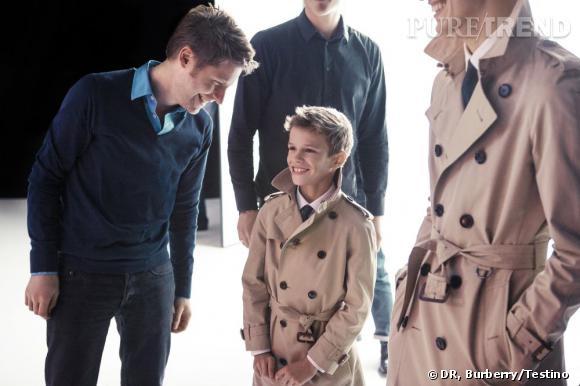 Romeo Bekcham pour la campagne Burberry Printemps-Eté 2013 : un bébé star dans les coulisses.