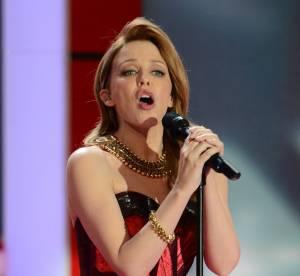 Kylie Minogue, une diva en robe bustier a Berlin