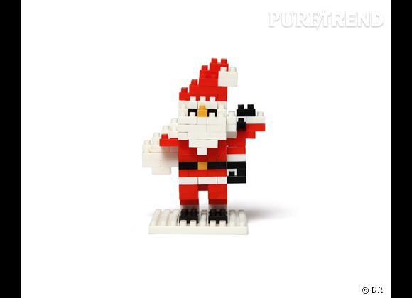 10 cadeaux de Noël pour les grands enfants ! Père Noël en Lego à constuire, Nanobloc, 12 € aux Galeries Lafayette