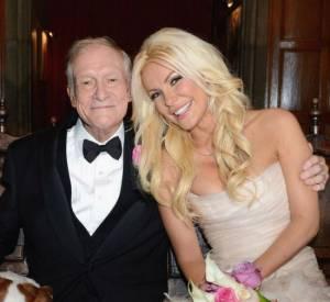 Hugh Hefner et sa nouvelle épouse.
