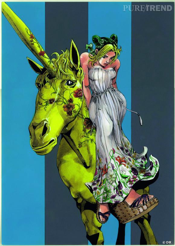 Campagne publiciataire Printemps-Été 2013 de Hirohiko Araki pour Gucci.