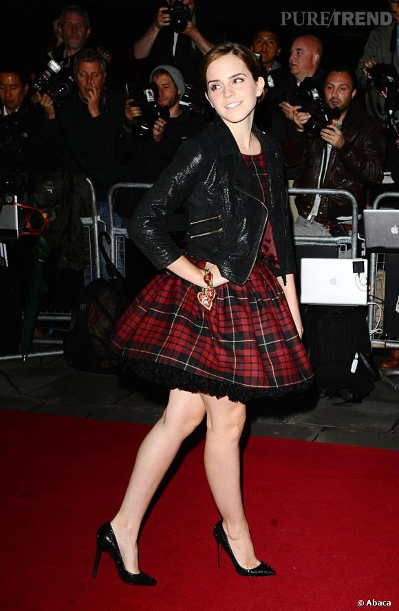 Tendance carreaux écossais : le tartan porté par les stars      Emma Watson