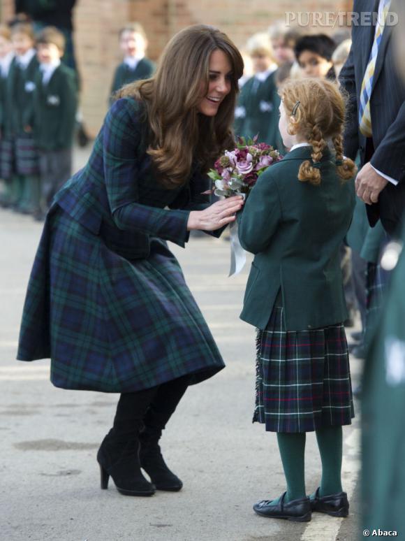 Tendance carreaux écossais : le tartan porté par les stars      La Duchesse de Cambridge, Kate Middleton