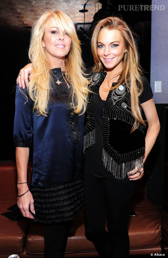Lindsay Lohan et sa mère Dina, avant la déchéance de la starlette.