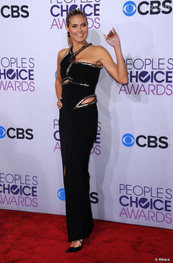 Heidi Klum aux People's Choice Awards 2013 en Julien McDonald.