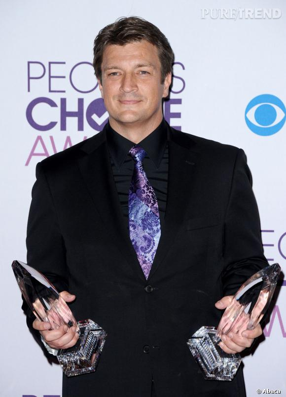 Nathan Fillion, meilleur acteur de série dramatique aux  People's Choice Awards 2013.
