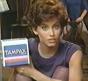 Courteney Cox : egerie Tampax 1985 avant la gloire !