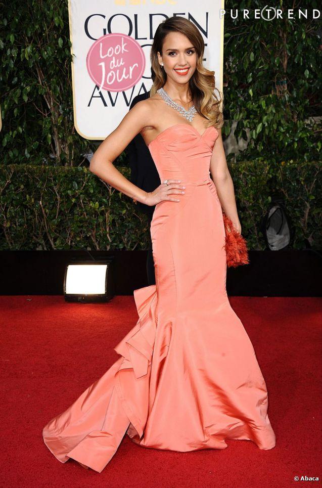 Jessica Alba, une sirène sexy aux Golden Globes.