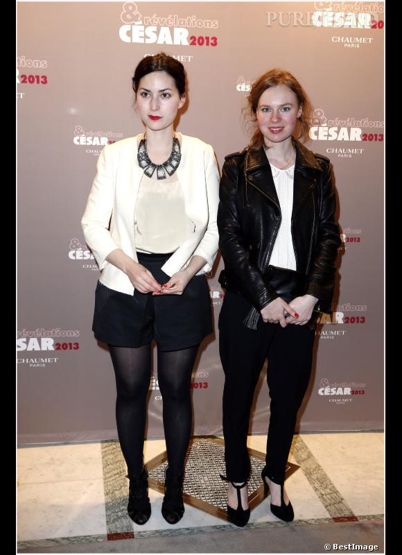 """La réalisatrice Rebecca Zlotowski et Sarah Le Picard (""""Alyah"""") au dîner pour les Révélations des César 2013."""