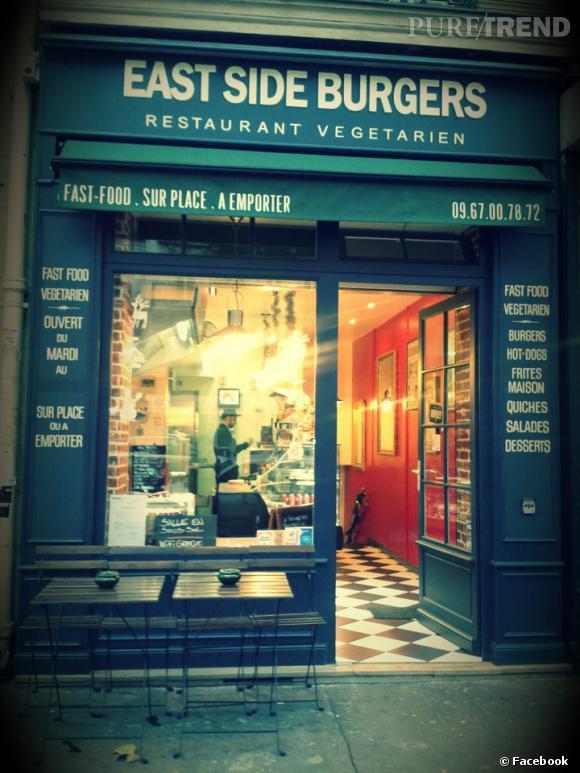 Pour un burger végétarien original et gourmand, direction East Side Burgers, le fast-food sain.   East Side Burgers : 60, bd Voltaire - 75011 Paris.