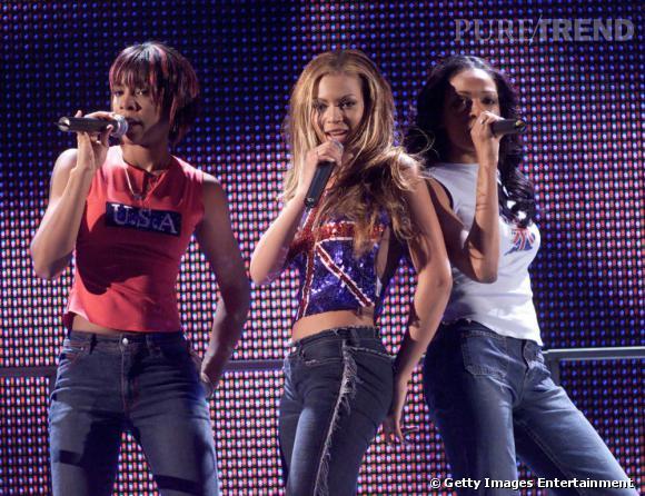Beyoncé et les Destiny's Child aux Brit Awards en 2001.