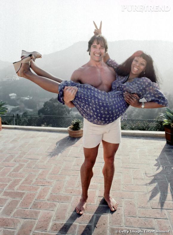 Arnold Schwarzenegger et Donna Summer, collector.