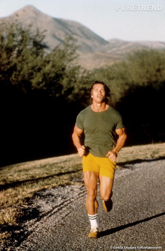 Arnold Schwarzenegger pas du genre sportif du dimanche.