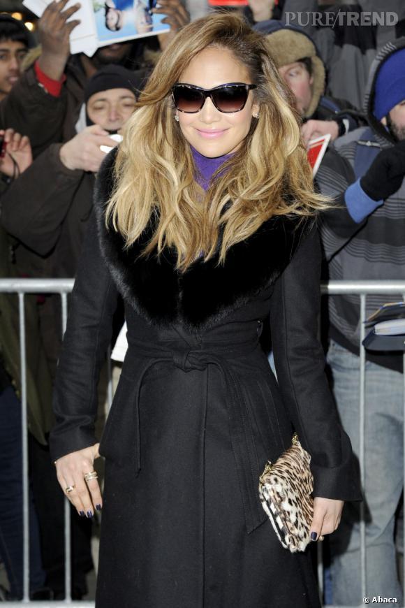 Jennifer Lopez à l'enregistrement de l'émission Good Morning America à New York le 22 janvier 2013.