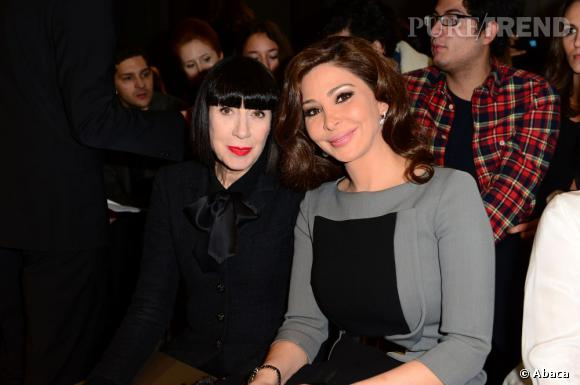 Chantal Thomass et la chanteuse libanaise Elissa chez Saab.