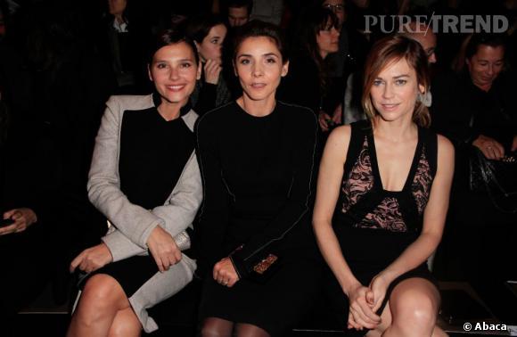 Virginie Ledoyen, Clotilde Courau et Marie-Josée Croze au défilé Elie Saab Haute Couture Printemps-Été 2013.