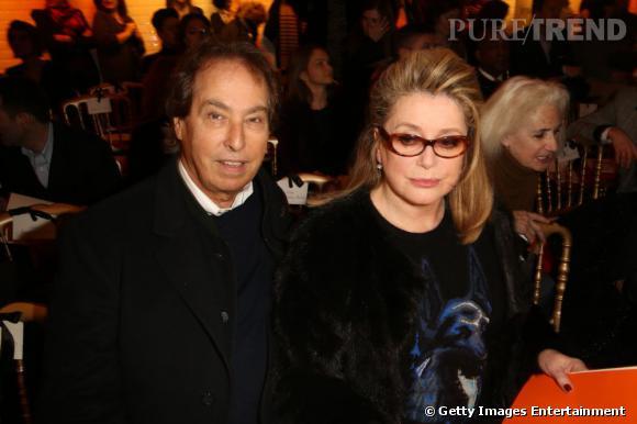 Gilles Dufour et Catherine Deneuve en front row chez Gaultier.