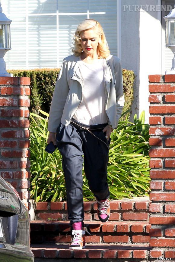 Gwen Stefani, mauvais mix à Los Angeles le 4 février 2013.
