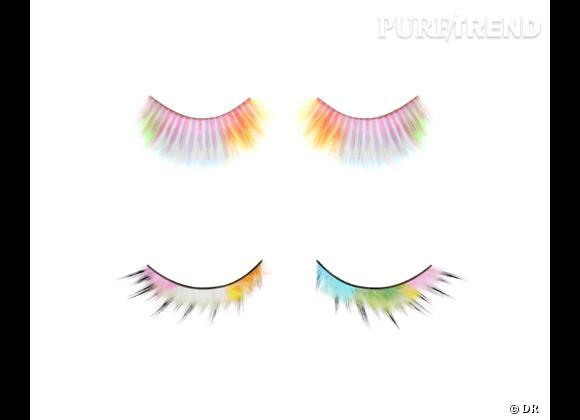 Faux cils Rainbow Feather L ou S, Blossom de Shu Uemura, 35 et 28 €.