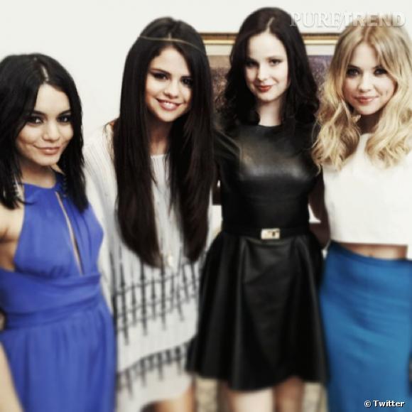 """Vanessa Hudgens, Selena Gomez, Rachel Korine et Ashley Benson étaient ce week-end à Paris pour faire la promotion de """"Spring Breakers""""."""