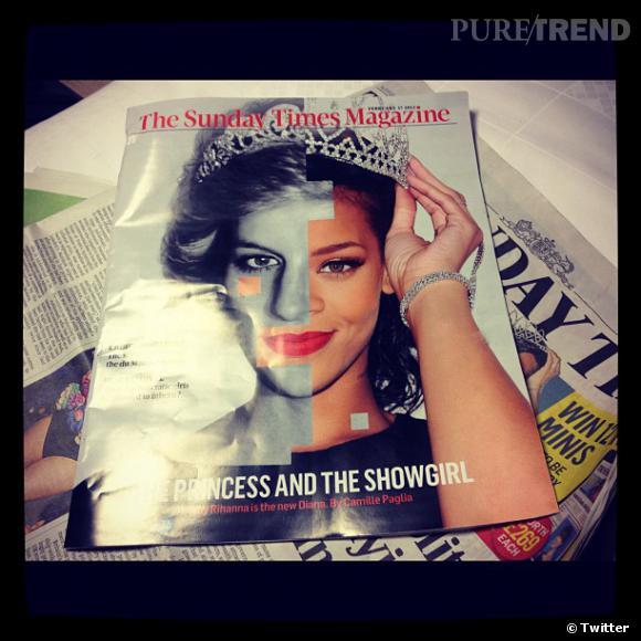 Rihanna réagit à la couverture du Sunday Times Magazine sur laquelle on la voit avec la princesse Diana.