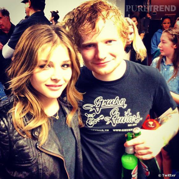 Chloë Moretz et Ed Sheeran : quand deux fans se rencontrent, cela vaut bien une photo !