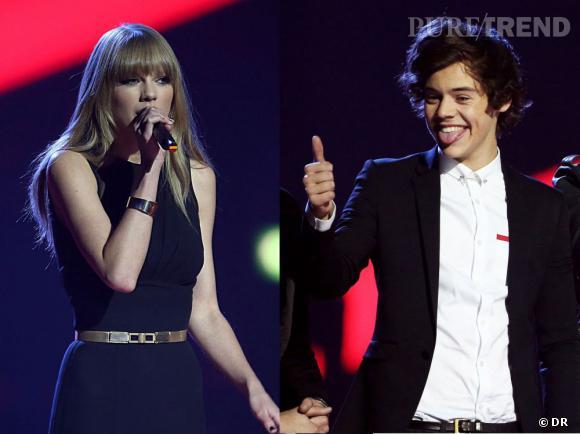 Taylor Swift et Harry Styles face-à-face aux Brit Awards 2013.