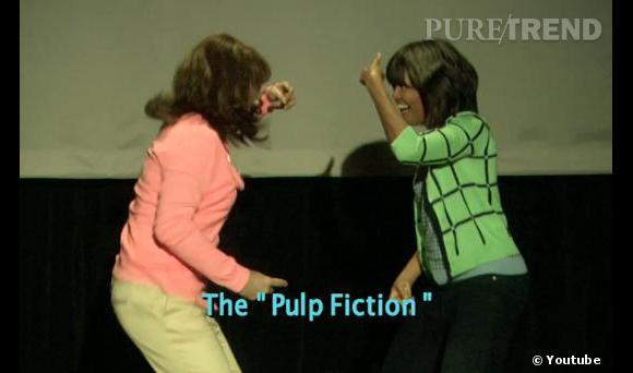 Michelle dévoile tout ses talents de danseuse.