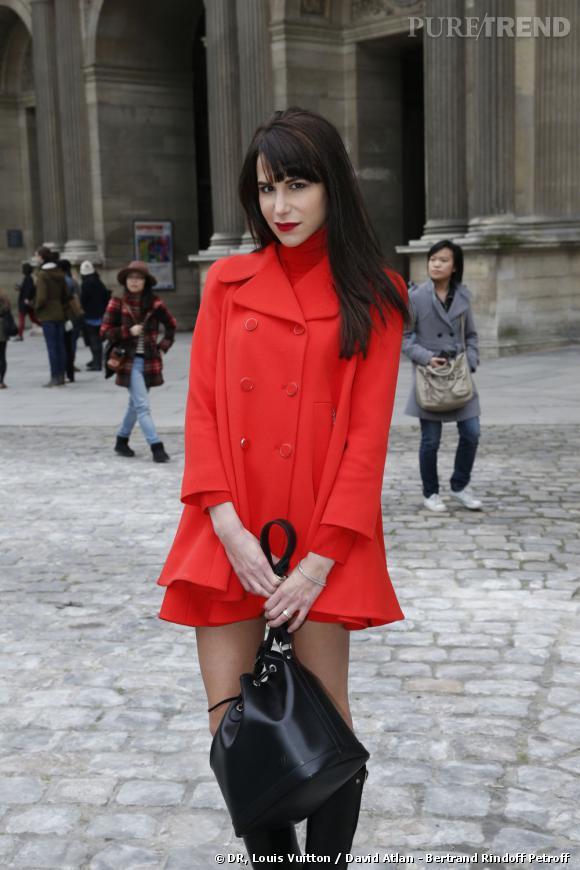 Caroline Sieber chez Louis Vuitton.