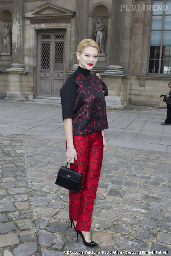 Léa Seydoux au défilé Louis Vuitton.