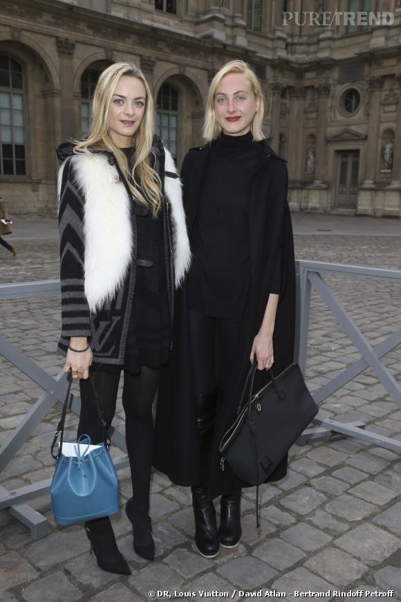 Les soeurs Courtin-Clarins chez Louis Vuitton.