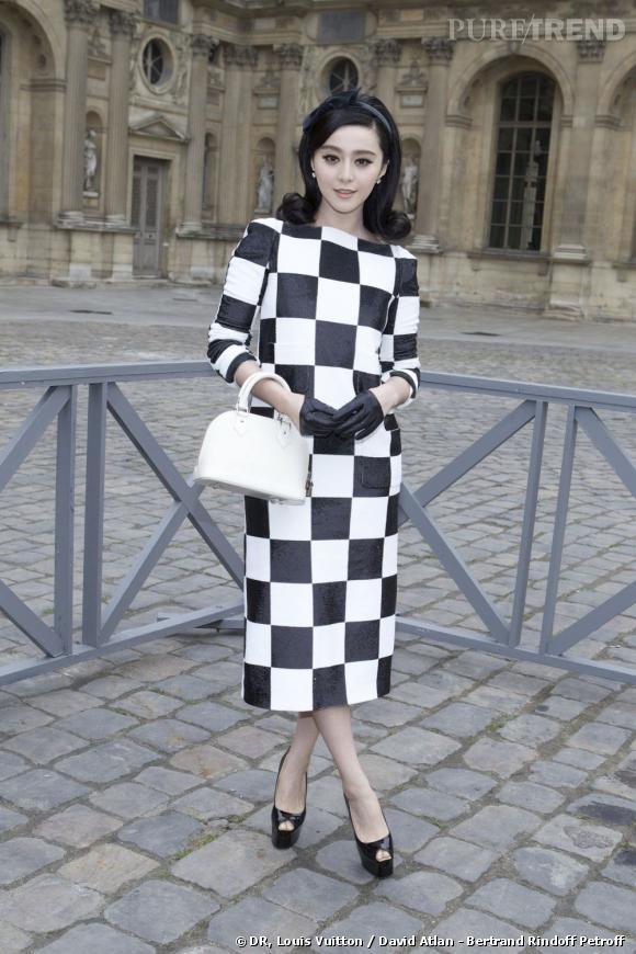 Fan Bingbing avant le défilé Louis Vuitton.