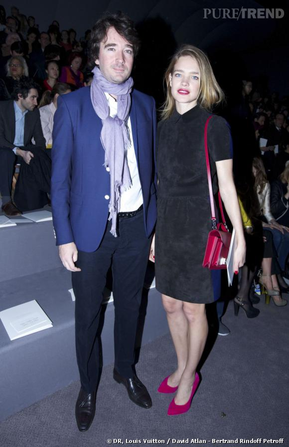 Antoine Arnaud et Natalia Vodianova chez Louis Vuitton.