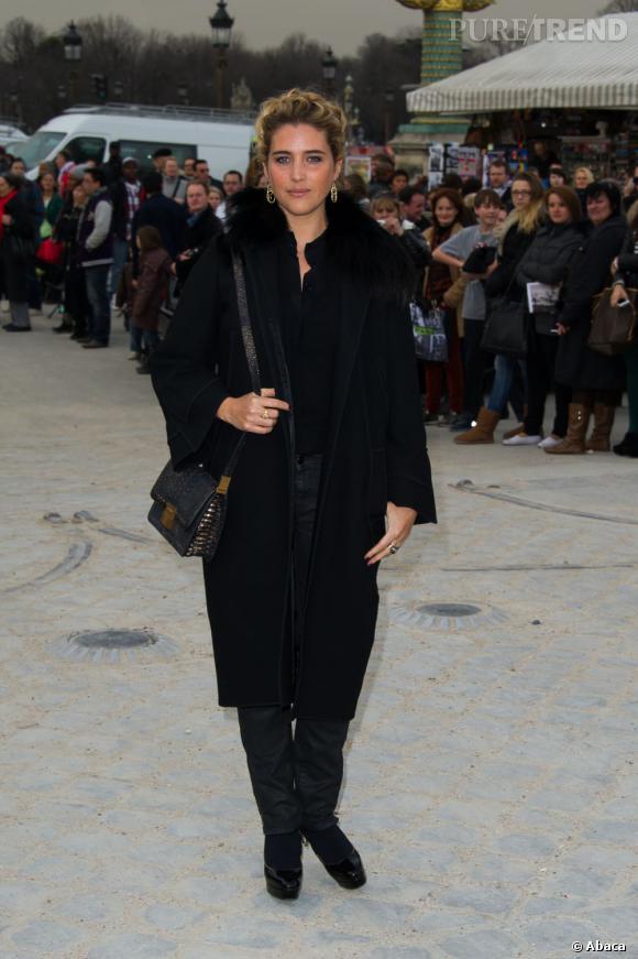 Vahina Giocante avant le défilé Elie Saab.