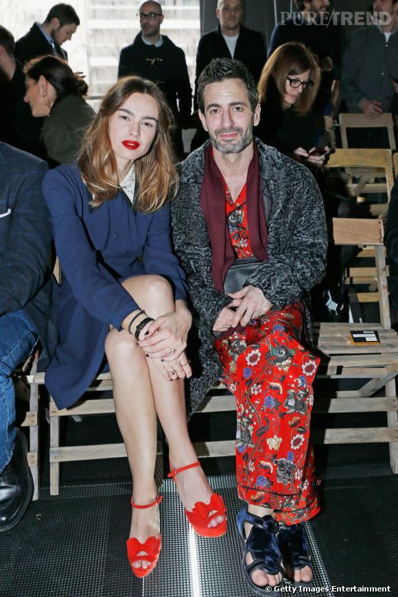 Kasia Smutniak et Marc Jacobs au premier rang du défilé Miu Miu.