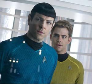 """Zachary Quinto et Chris Pine incarne Spock et Kirk dans """"Star Trek Into Darkness"""" attendu pour le 12 juin 2013."""