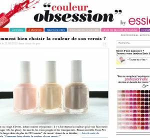 Essie lance son blog, Couleur Obsession