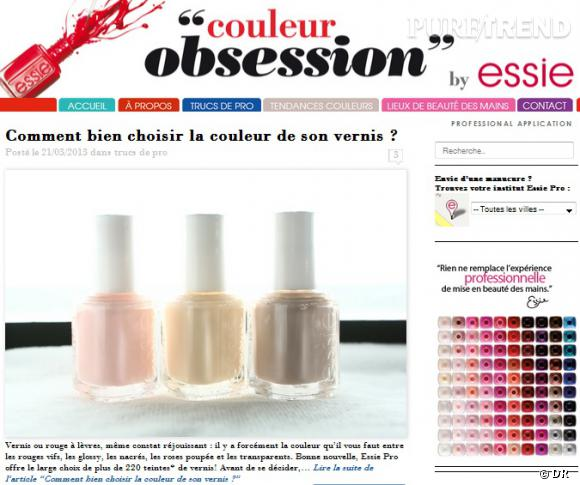 Essie lance son blog, Couleur Obsession.