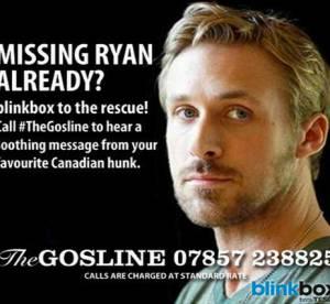 Ryan Gosling : la Gosline, une hotline pour consoler les fans