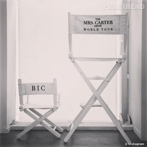 Beyoncé a tout prévu : voilà la chaise miniature de Blue Ivy pour la tournée mondiale !