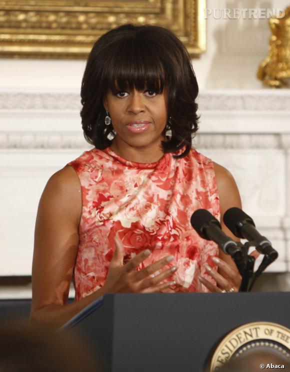 Michelle Obama et sa frange suscitent le plus grand intérêt.